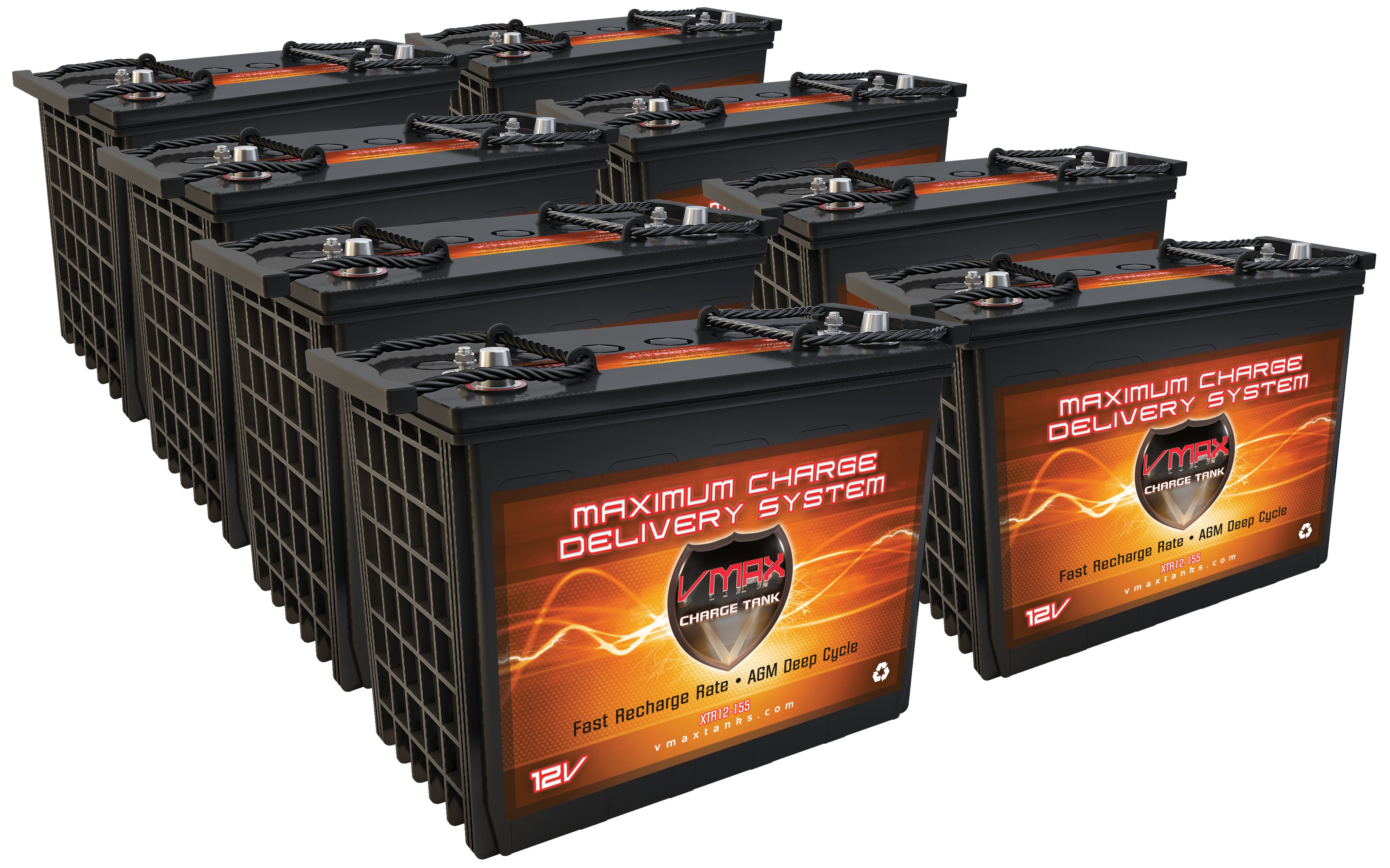 qty 8 vmax xtr12 155 12v 155ah agm sla battery upgrade for polaris ev ranger free shipping. Black Bedroom Furniture Sets. Home Design Ideas