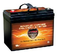 VMAX857 AGM Deep Cycle 35Ah 12V Battery. With a 30lb Trolling Motor: 4-6 Hrs. FREE SHIPPING