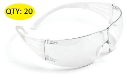 3M SF201AF SecureFit Protective Eyewear Clear Lens Anti-Fog (20pcs)
