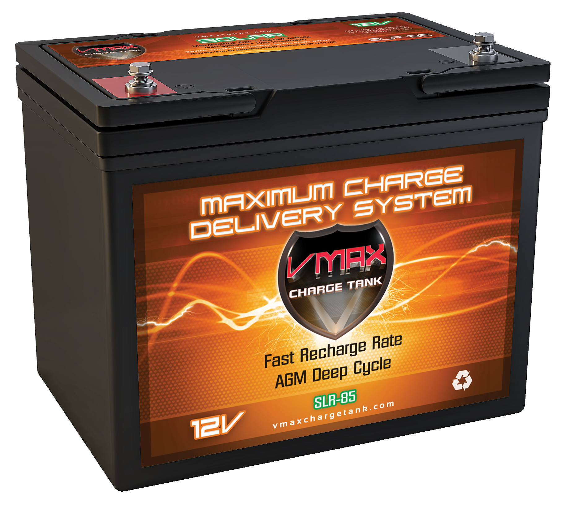 12 Volt Battery : Vmax slr volt ah agm deep cycle hi performance battery