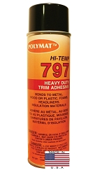 QTY 1: 20 oz can Polymat 797 Hi-Temp Glue Spray Adhesive