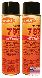 QTY 2: 20 oz cans Polymat 797 Hi-Temp Glue Spray Adhesive