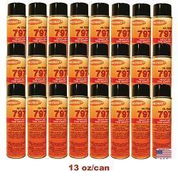 QTY 24: 20 oz cans Polymat 797 Hi-Temp Glue Spray Adhesive