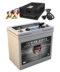 VPG12C-55LFP Li-Iron 12V 55AH Deep Cycle Battery Power Generator W/Charger