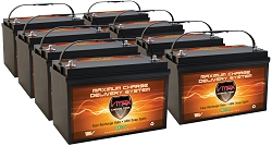 QTY 8 VMAX SLR125 12V 125Ah AGM BATTERIES