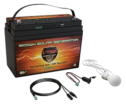 VSG12-100 12Volts, 100AH AGM Solar Generator Package