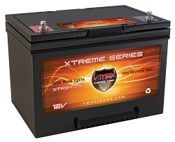 VMAX XTR34-75  12V 75AH  Deep Cycle, XTREME AGM Battery.