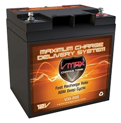 VMAX V30-800 12V 30Ah AGM Deep Cycle Battery