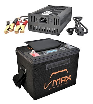 VPG12C-50LFP LiFePO4 50AH Deep Cycle Battery Power Generator W/Charger