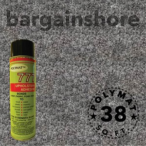 SIZE: 10FT x 3.75FT Polymat™ Series-25 Charcoal + 1 777 Glue