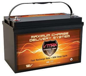 VMAX MB137-120 12V 120Ah AGM Deep Cycle Hi Performance Battery