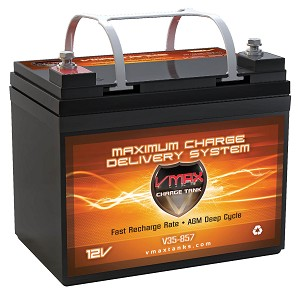 VMAX V35-857 12 Volt 35Ah AGM Deep Cycle Hi Performance U1 Battery